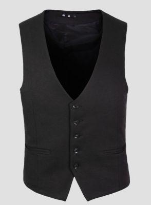 Gilet de Costume Homme Sans Manches Fermeture 5 Boutons