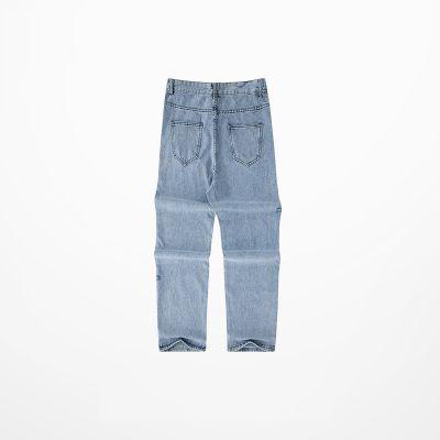 Jeans baggy vintage Dad Jeans pour homme effet troué
