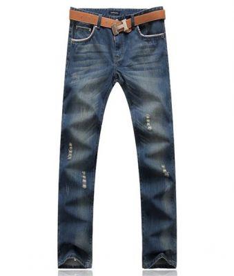 Jeans baggy fashion effet délavé