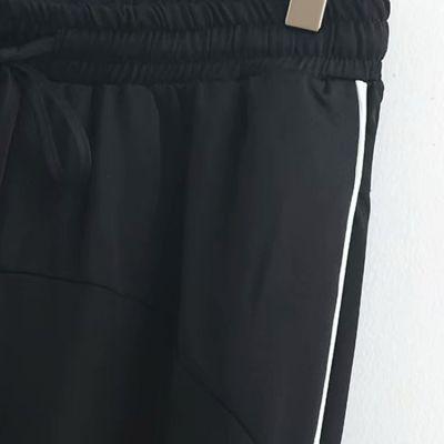 Jogging à rayure simple côté pour femme pantalon de sport survêtement