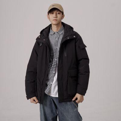 Manteau oversize épais à capuche pour hommes