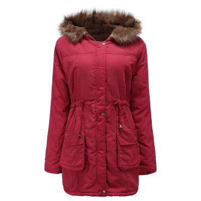 Manteau parka pour femme avec capuche fourrure et doublure fourrée