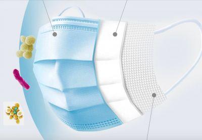 Masques chirurgicaux adulte protection COVID-19 respiratoire (Pack de 50)