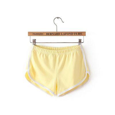 Mini short de sport pour femme bordure blanche en coton