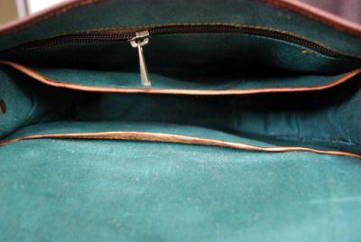 Sac à bandolière en véritable cuir style retro vintage - 13 pouces