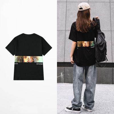 T-shirt ras de cou unisexe avec imprime fumeur