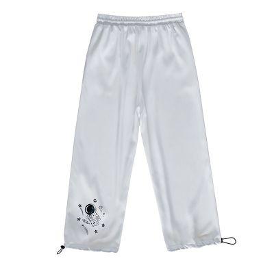 Pantalon souple cordelettes aux chevilles