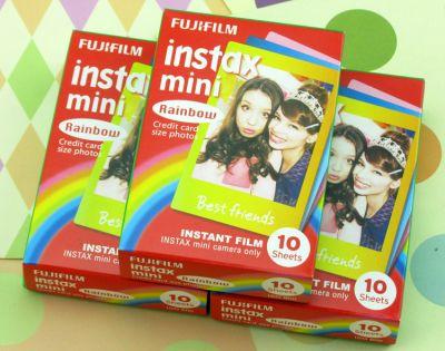 Packet de 10 films pour photos Polaroid Mini fond couleur