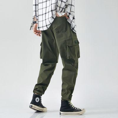 Pantalon cargo oversize décontracté avec taille elastique pour homme
