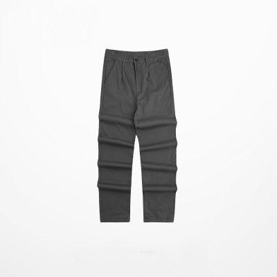 Pantalon en coton droit court avec poches multiples pour homme