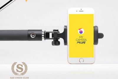 """Perche à Selfie """"Selfie Stick"""" Bluetooth avec Design Compact"""
