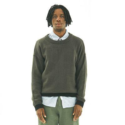 Pull classique à col rond pour homme avec contraste couleur
