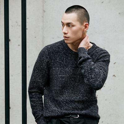 Pull en laine à col rond pour homme
