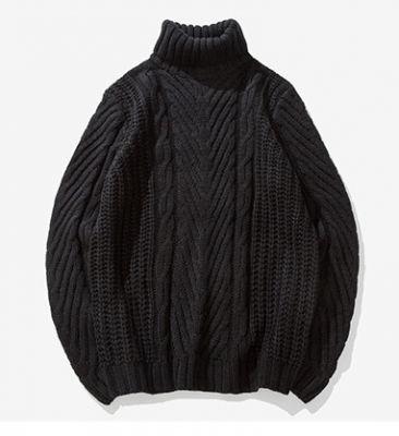 Pullover à col roulé oversize pour homme avec torsades