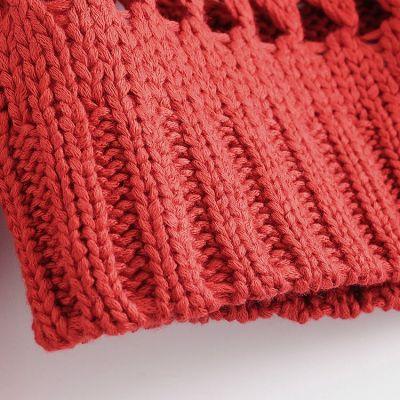 Pullover en laine tricot maillage large mailles fluides pour femme
