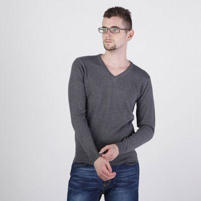 Pullover pour Homme avec Col V Classic Laine Douce