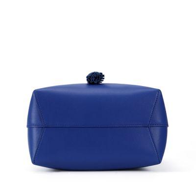 Sac à Main Bucket Cuir Nappa I!!! 25 CM Bleu