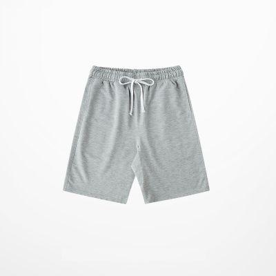 Short en tissu coton baggy pour homme avec cordon ceinture blanc