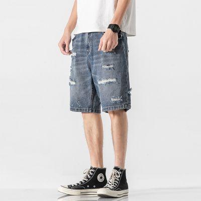 Short jean baggy pour homme
