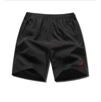 Shorts bermuda de sport taille élastique à séchage rapide pour hommes avec cordon de serrage grande taille poches zippées