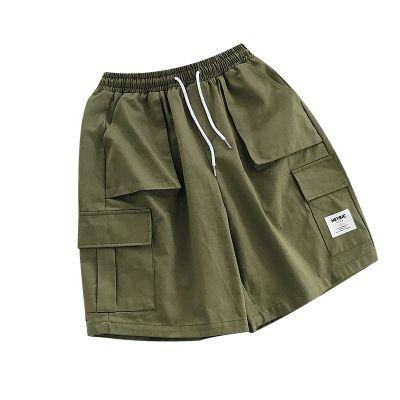 Shorts de plage pour homme avec poches bermuda cargo coton
