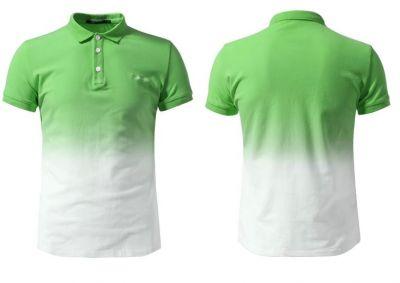 Polo a manches courtes degradé bicolore – cotton
