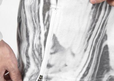 Sweat capuche motif marbre pour homme