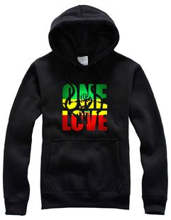 Sweatshirt à Capuche Reggae Bob Marley Vert Jaune Rouge Rasta
