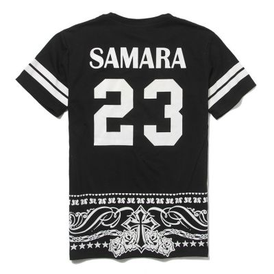 T shirt Baseball Samara Bandana Print Bandes Blanches 23