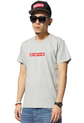 T shirt No Zuo No Die Rectangle Rouge Homme Femme Swag