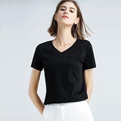 Tee-shirt femme basique col rond ou col V