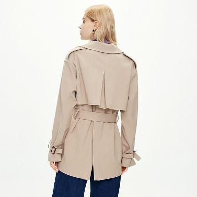 Trench-coat à coupe slim pour femme avec ceinture