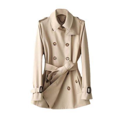 Trench-coat court gabardine pour femme