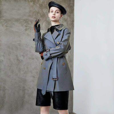 Trench-coat trois-quart pour femme