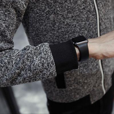 Veste bomber en tweed pour homme tissu poivre et sel gris