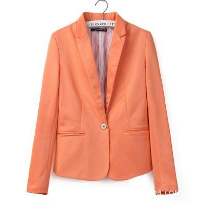 Blazer classique pour femme veste costume simple fermeture bouton