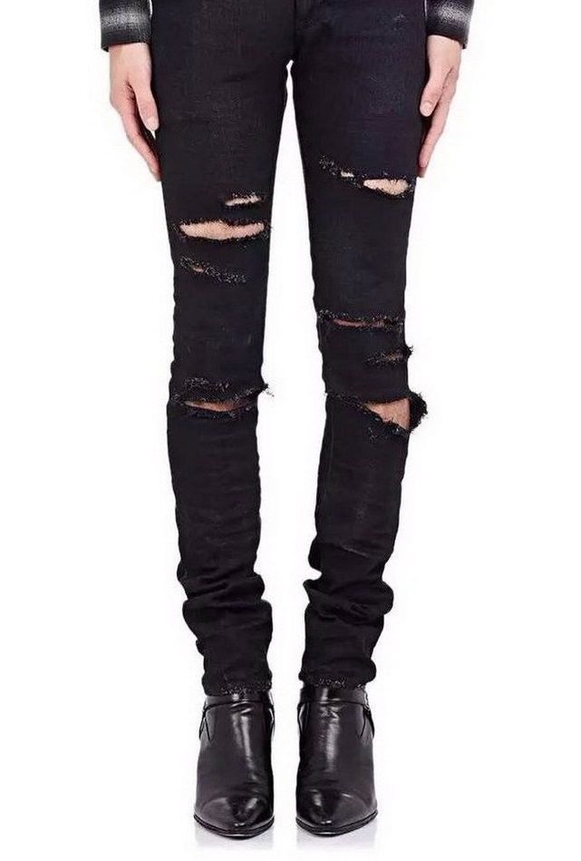 Jeans destroyed Slim pour homme