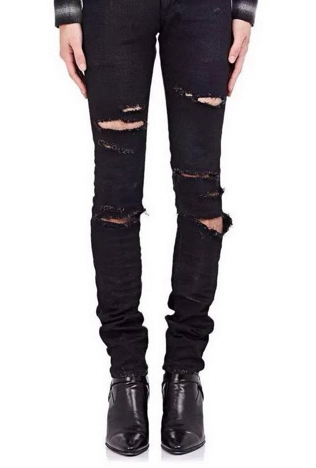 Jeans destroyed Slim pour homme