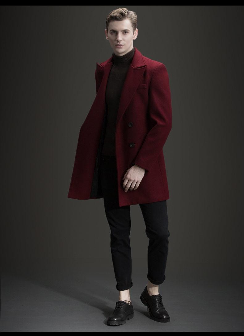 manteau homme bordeaux